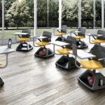 chaise-roulettes-avec-porte-tablette-Rover-EVO-2