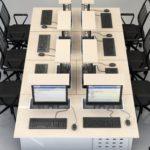 table multimedia avec écran escamotable