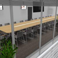 Table-reunion-en-bois-ebenisterie-chaises-OSAKA