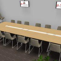 Table-reunion-en-bois-ebenisterie-chaises-ZEROSEDICI-vue-2
